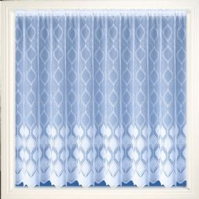 BRIGHT WHITE MODERN marsailles DESIGN NET CURTAIN SOLD PER METRE FREE POSTAGE